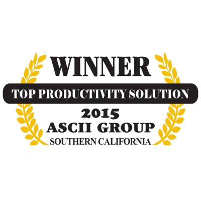 ASCII Group Southern California 2015 Top Productivity Solution Winner