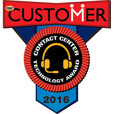 2016 CUSTOMER Contact Center Technology Award