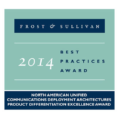 Frost & Sullivan UC Excellence Award