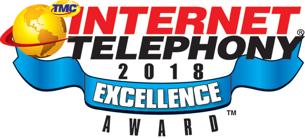 2018 Excellence Award by INTERNET TELEPHONY Magazine