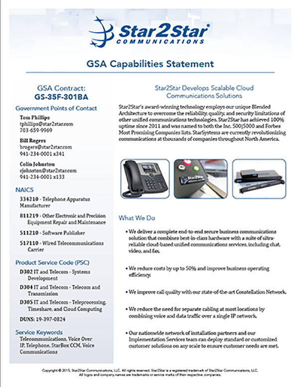 GSA Capabilities Statement