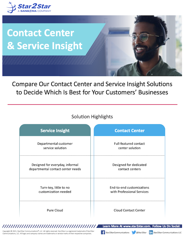 Contact Center & Service Insight