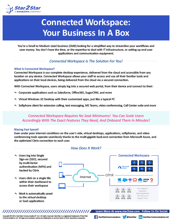 Connected Workspace: Your Business In A Box
