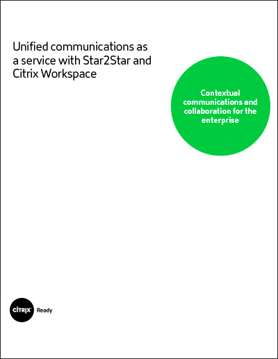 Unified communications as a service with Star2Star and Citrix Workspace